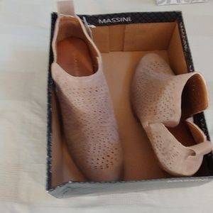 Massini cute booties beige size 11M 3 in heel